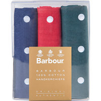 Barbour Spotted Hankies red green navy