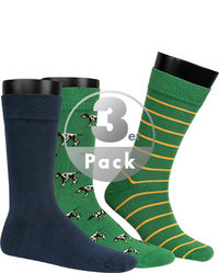 Barbour Socken 3er Pack green