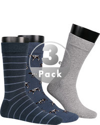 Barbour Socken 3er Pack chambray
