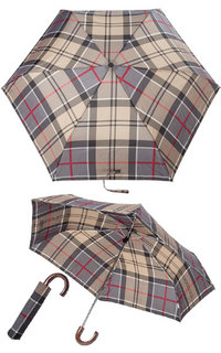 Barbour Mini Umbrella red tartan