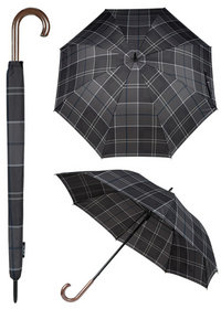 Barbour Walker Umbrella black-grey