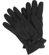 Handschuhe aus Veloursleder schwarz