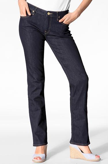 Lee Damen Marion Straight solid blue L301