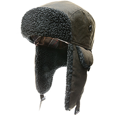 Barbour Fleece Lined Hunter Hat olive MHA0033OL51