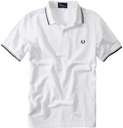 Fred Perry Slim Fit Polo white-navy-blue M3600/300