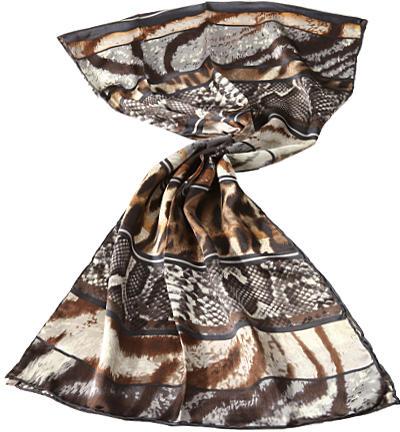 codello damen schal seide braun grau creme empfohlen von deinen schwestern. Black Bedroom Furniture Sets. Home Design Ideas