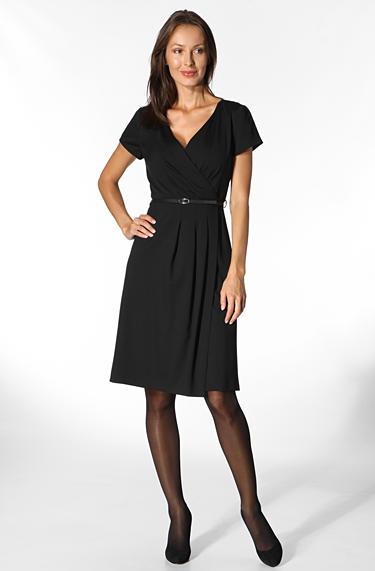 daniel hechter damen kleid black mit cross over ausschnitt. Black Bedroom Furniture Sets. Home Design Ideas