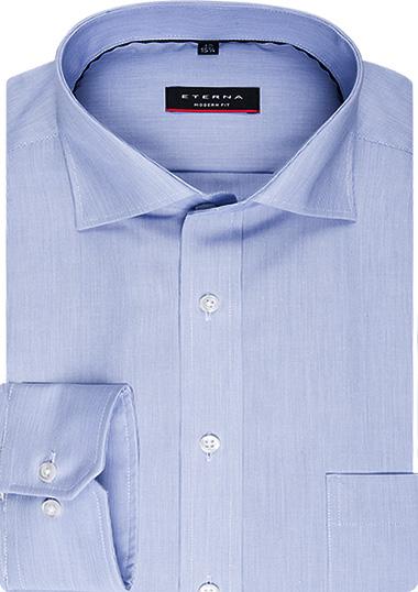 ETERNA modern fit Milleray� Kent (Blau, Baumwolle, Klassisch)