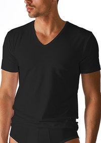 Mey DRY COTTON V-Shirt schwarz