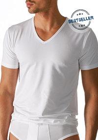 Mey DRY COTTON V-Shirt weiß