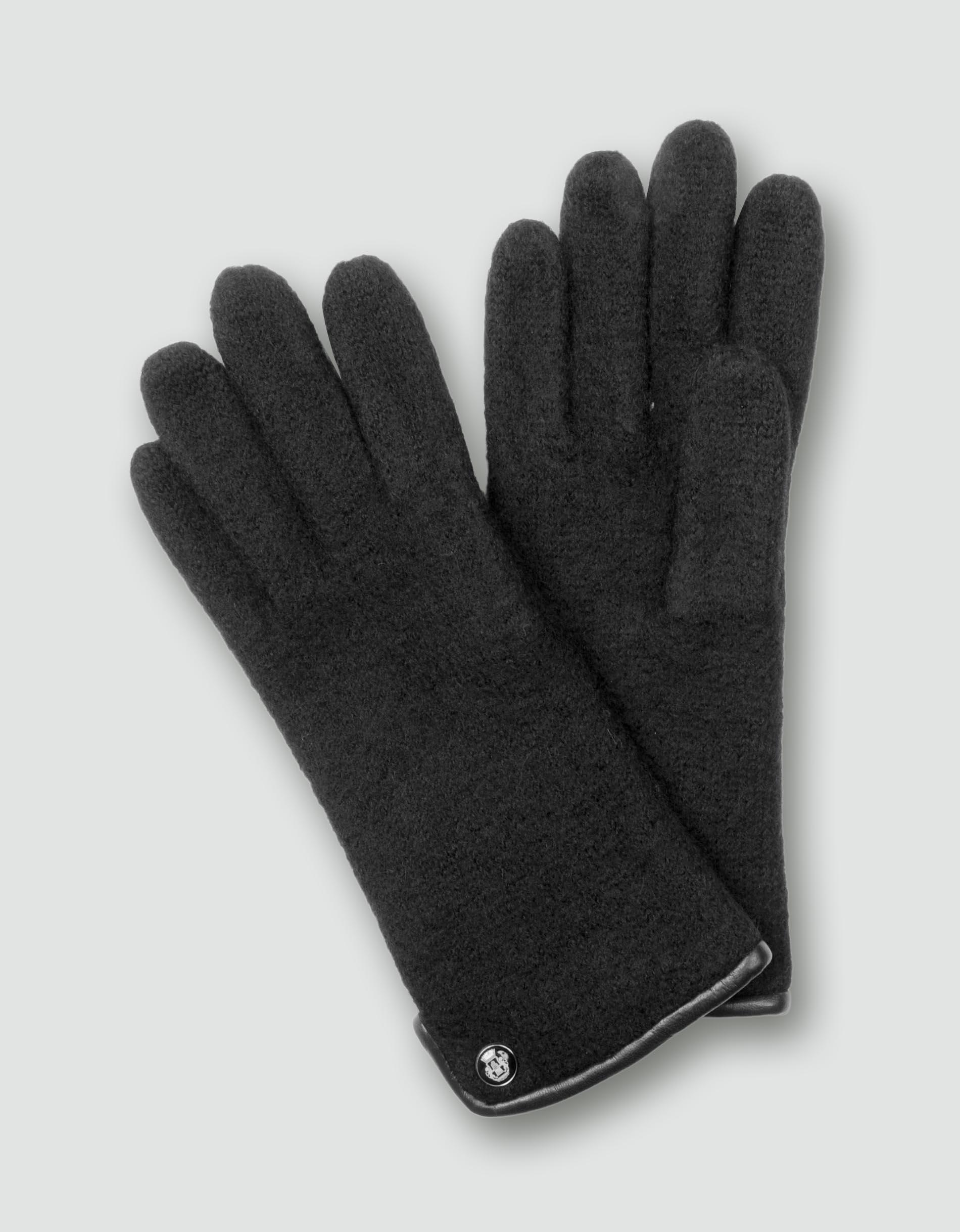 roeckl damen handschuhe walkhandschuh schwarz empfohlen. Black Bedroom Furniture Sets. Home Design Ideas