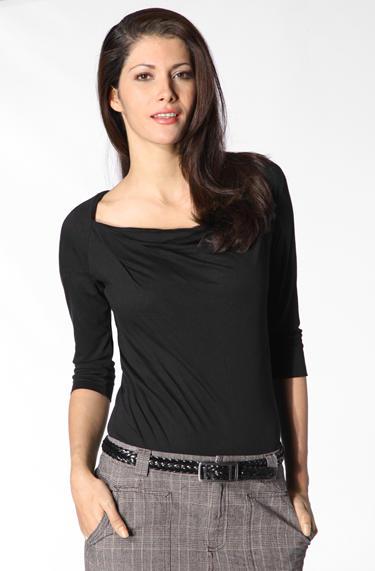 KOOKAI Damen T-Shirt black K4313
