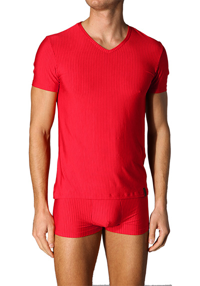 bruno banani Straight V-Shirt rot 2205/1063/1103