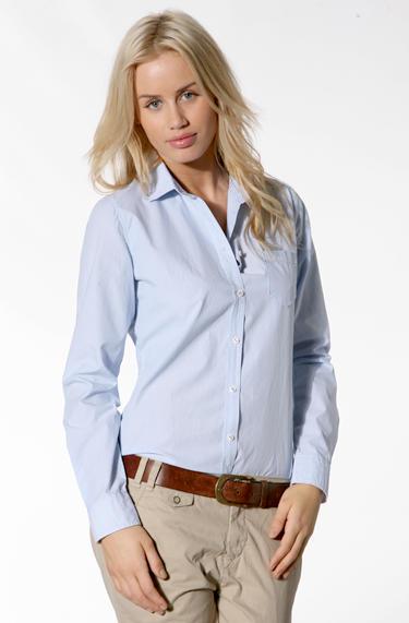 0dd9c41d05f3b9 Marc O'Polo Damen Bluse Baumwolle hellblau-weiß empfohlen von Deinen ...