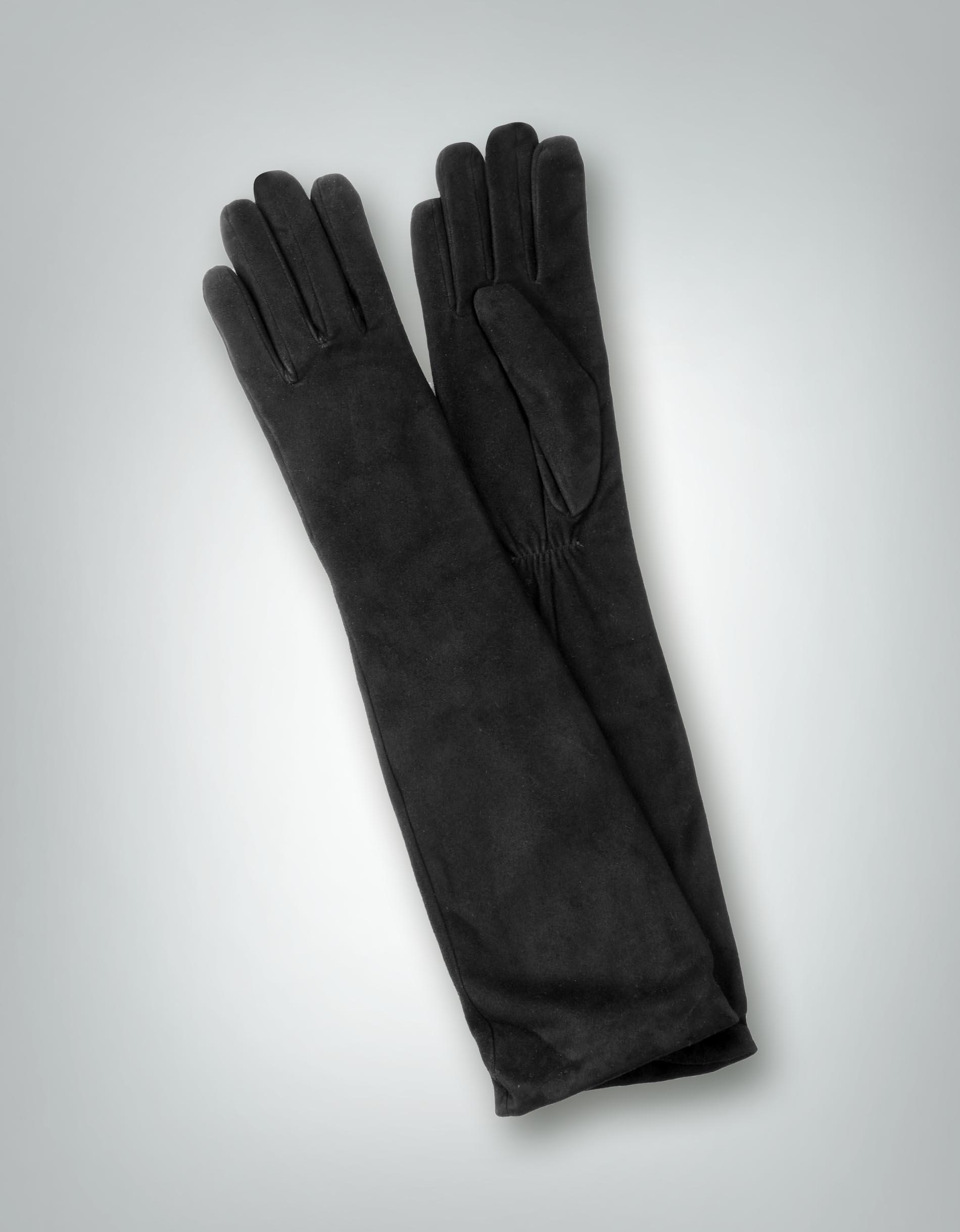 roeckl damen handschuhe veloursleder wollfutter schwarz. Black Bedroom Furniture Sets. Home Design Ideas