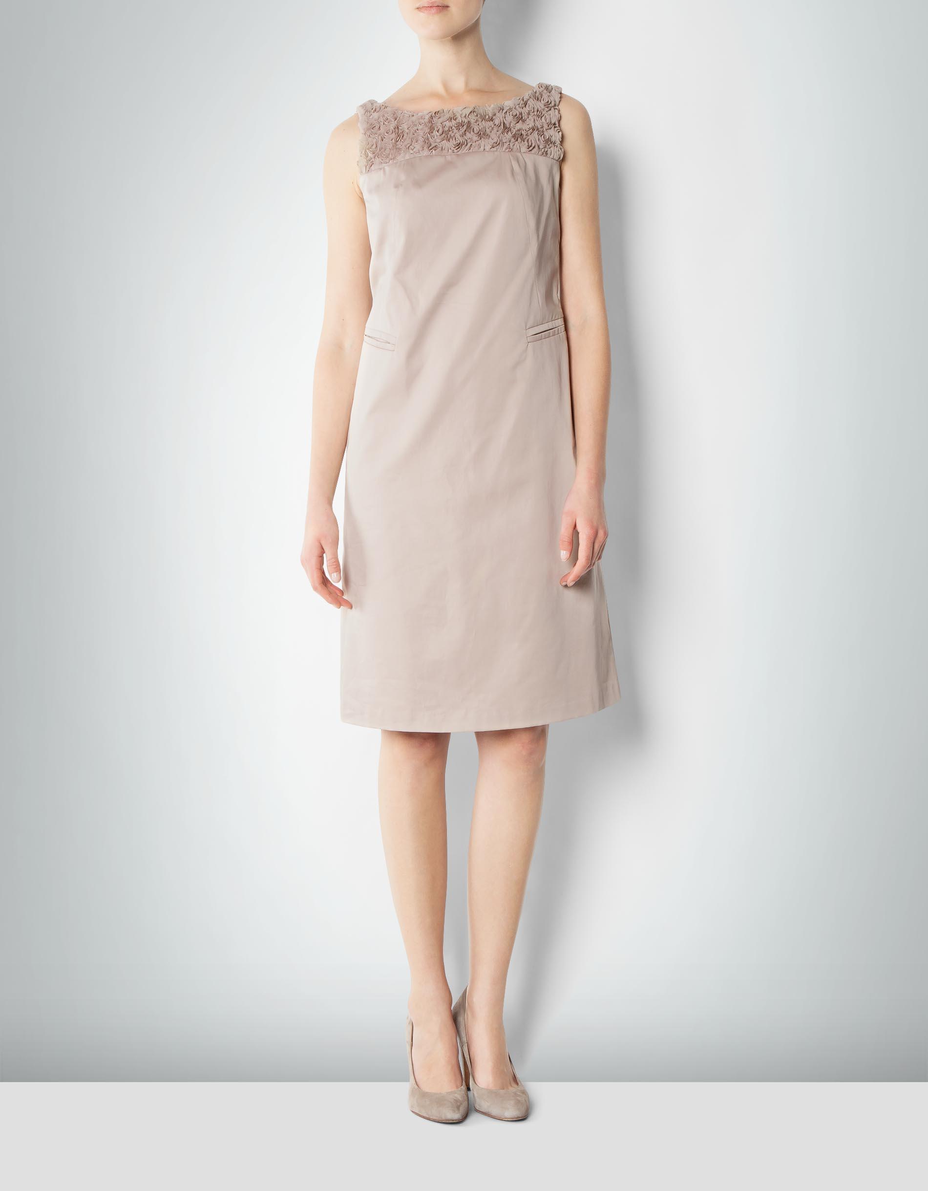 daniel hechter damen kleid beige mit rosen drap s. Black Bedroom Furniture Sets. Home Design Ideas