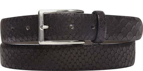 POST & CO Gürtel Printed Snake PR25/nero