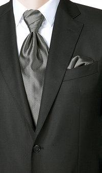 Wilvorst Krawattenplastron grau
