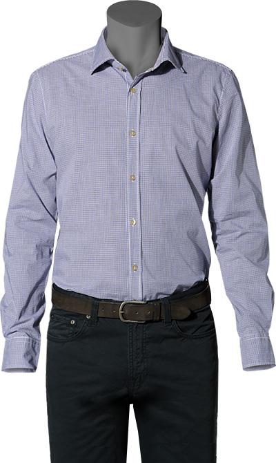 Hemd Cisharkey blau-schwarz