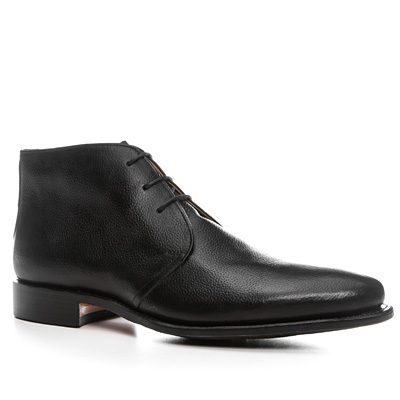Prime Shoes Cardiff Golf black Leder-Gummisohle