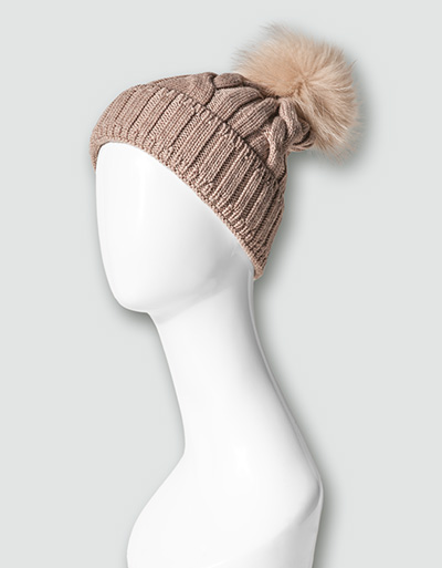 Damen Mütze beige 042
