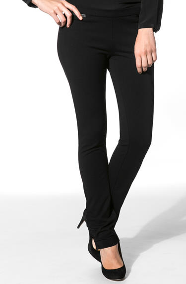 57054ce6a3a5 Calvin Klein Damen Hose schwarz Jersey, Viskosemischung, empfohlen von  Deinen Schwestern