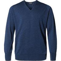 John Smedley V-Pullover Bobby indigo