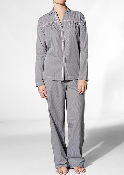 pretty nice 82227 9b004 JOOP! Damen Pyjama Sylvia + , Baumwolle, schwarz-weiß ...