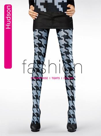 Damen Fancy Pattern Strumpfhose schwarz