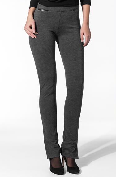 d26c58872154 Calvin Klein Damen Hose grau Jersey, Viskosemischung, meliert ...