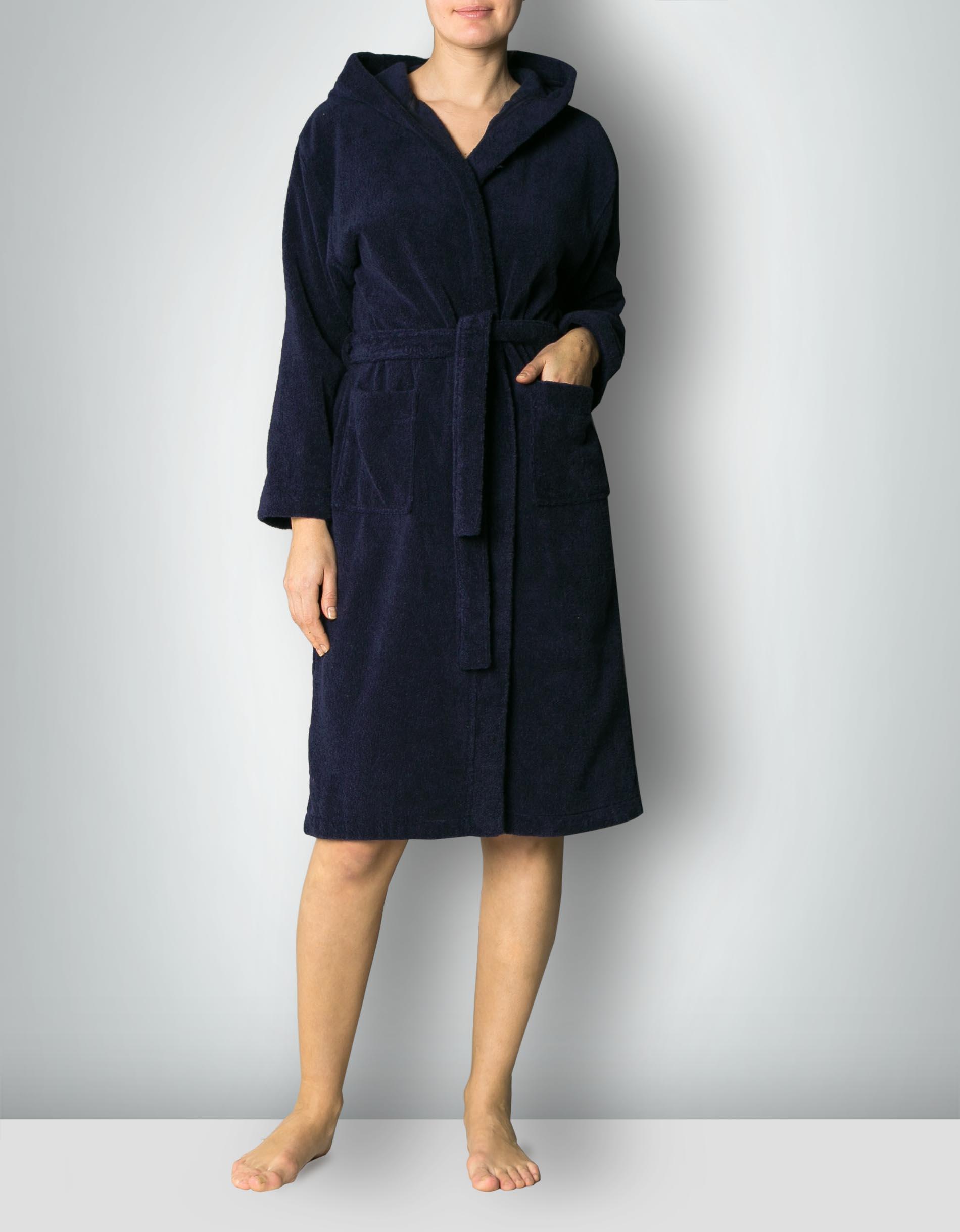 schiesser damen bademantel mit kapuze baumwollfrottee dunkelblau empfohlen von deinen schwestern. Black Bedroom Furniture Sets. Home Design Ideas