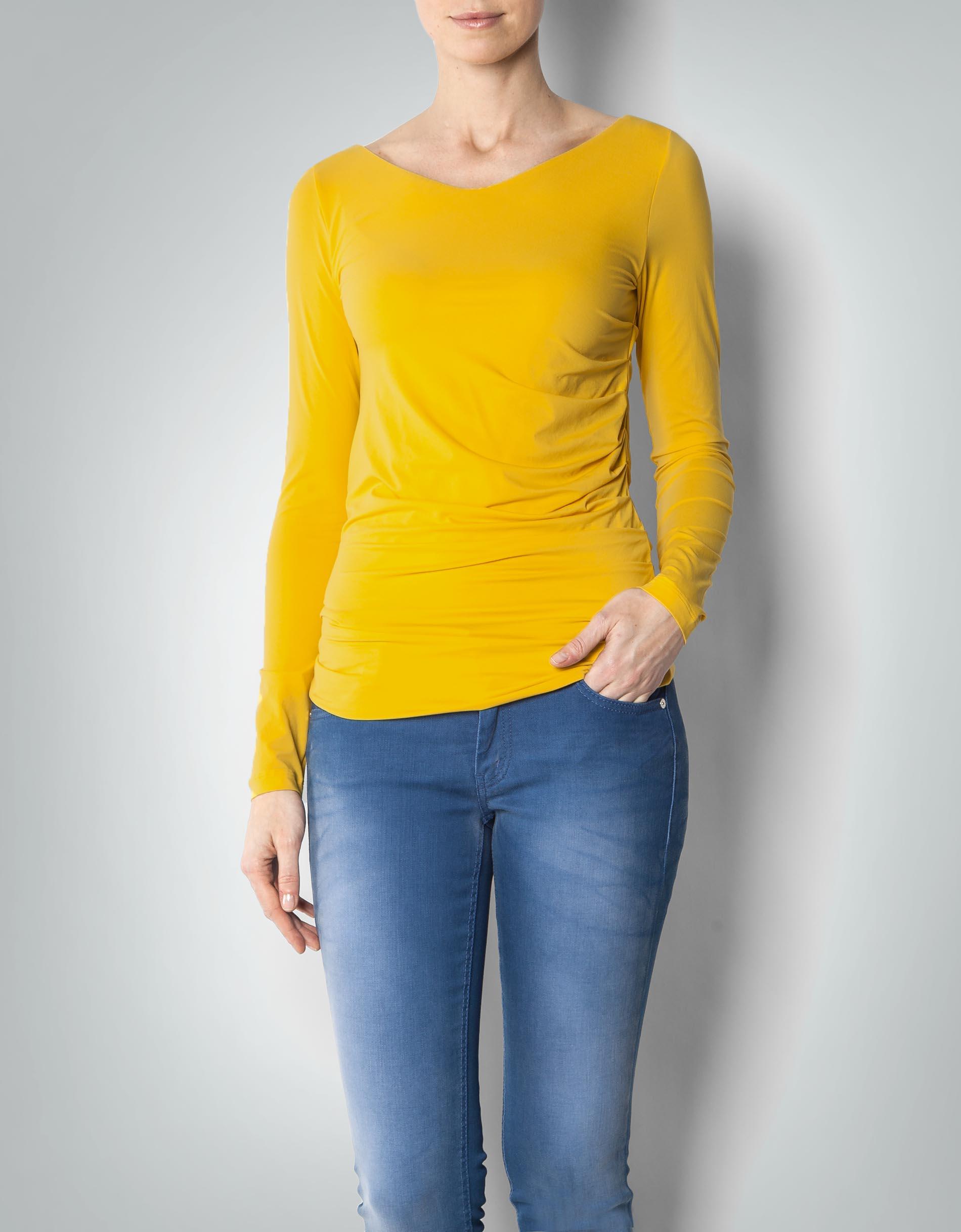 cinque damen t shirt cimarta gelb longsleeve mit. Black Bedroom Furniture Sets. Home Design Ideas