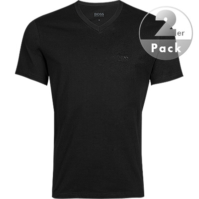 HUGO BOSS V-Shirt 2er Pack black 50325401/001