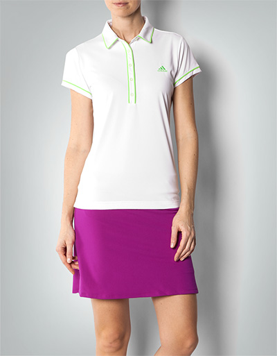 adidas golf damen polo shirt white green aus funktioneller microfaser empfohlen von deinen. Black Bedroom Furniture Sets. Home Design Ideas