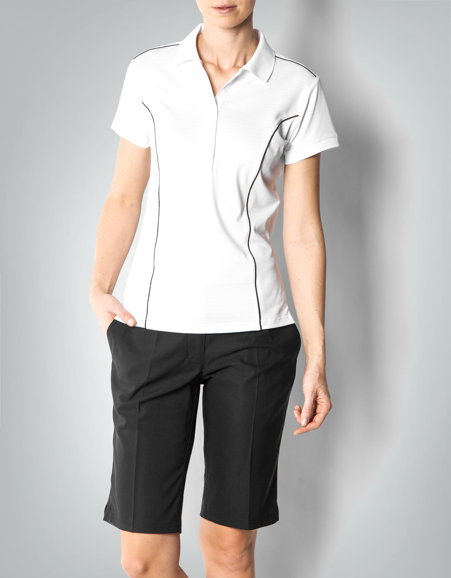adidas golf damen polo shirt climalite aus funktionellem. Black Bedroom Furniture Sets. Home Design Ideas