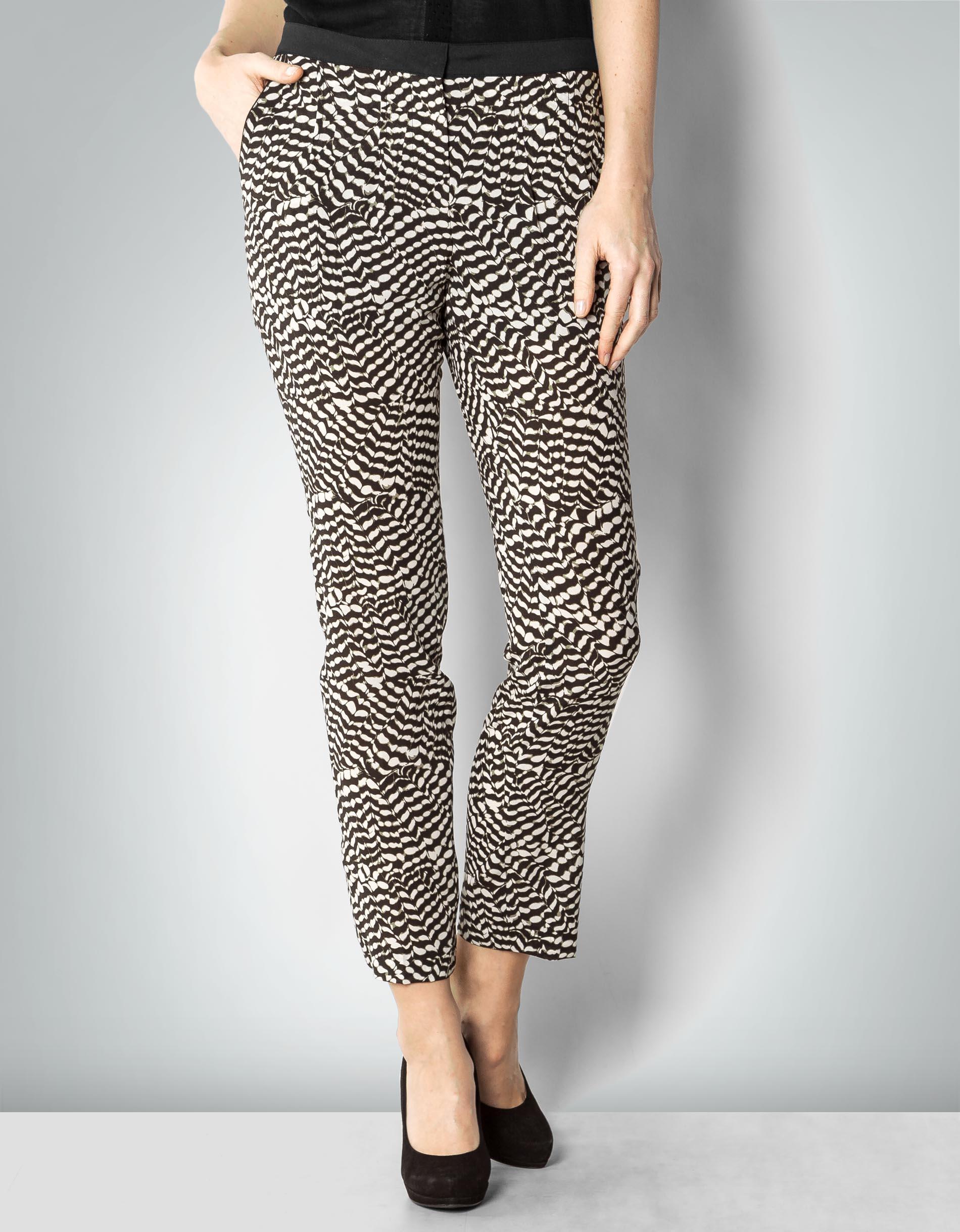 s oliver black label damen slim jeans 11701713901 schwarz grey black houndstooth 99a5 36 l32. Black Bedroom Furniture Sets. Home Design Ideas