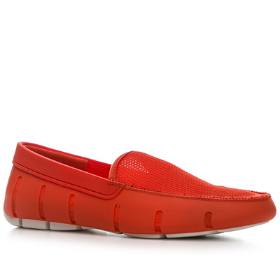 SWIMS Flat Loafer fire white