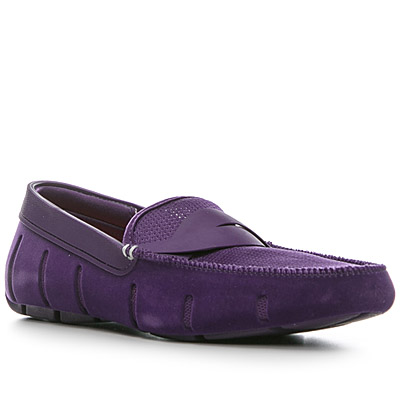 SWIMS Braid Loafer/purple velvet