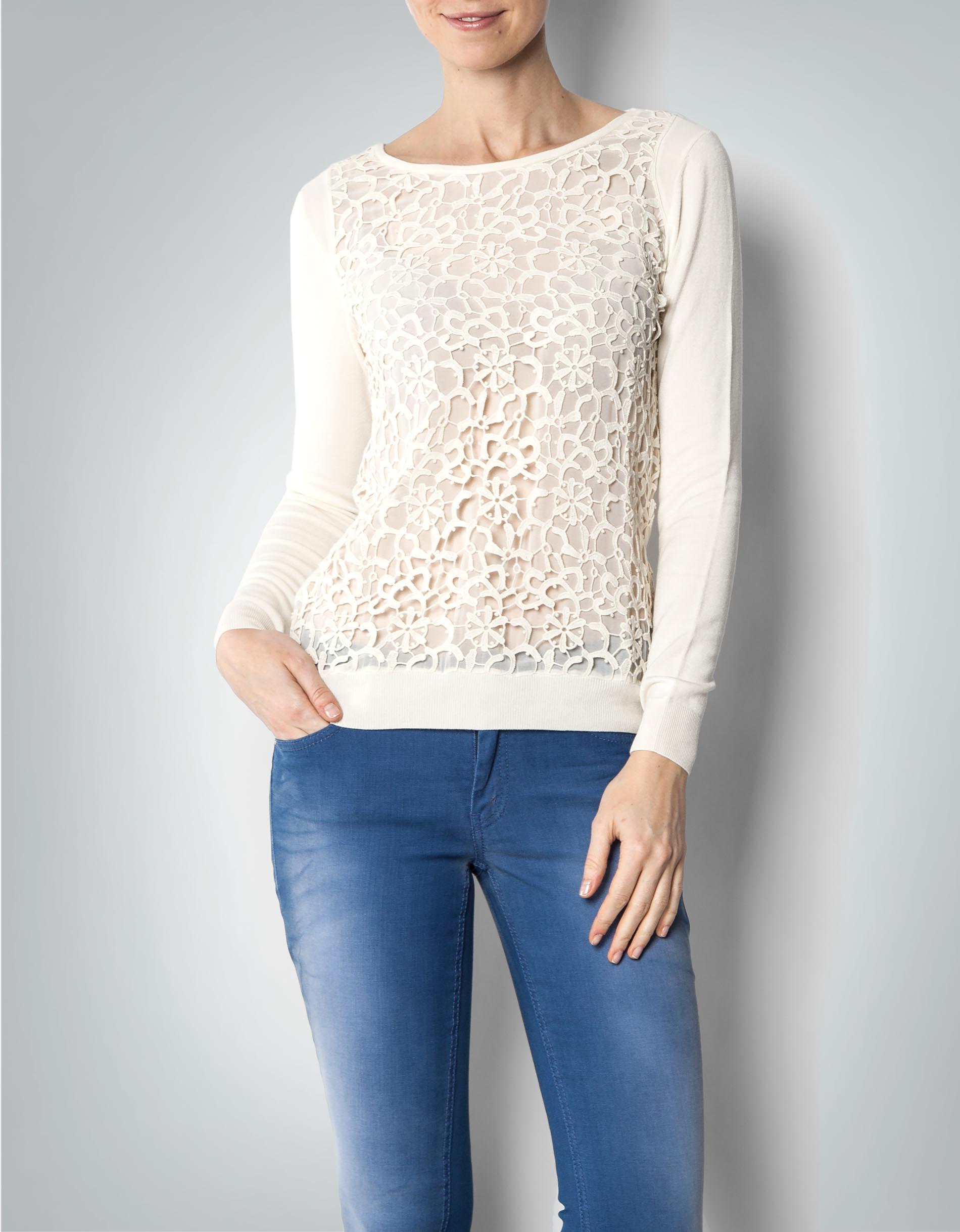 KOOKAI Damen Pullover mit floralem Häkelmuster empfohlen von Deinen ...
