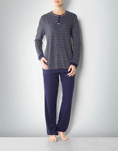 Damen Frottee-Pyjama navy 139262/800