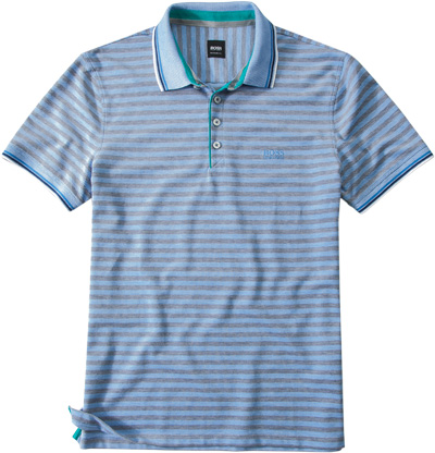 HUGO BOSS Polo-Shirt hellblau 50244439/432