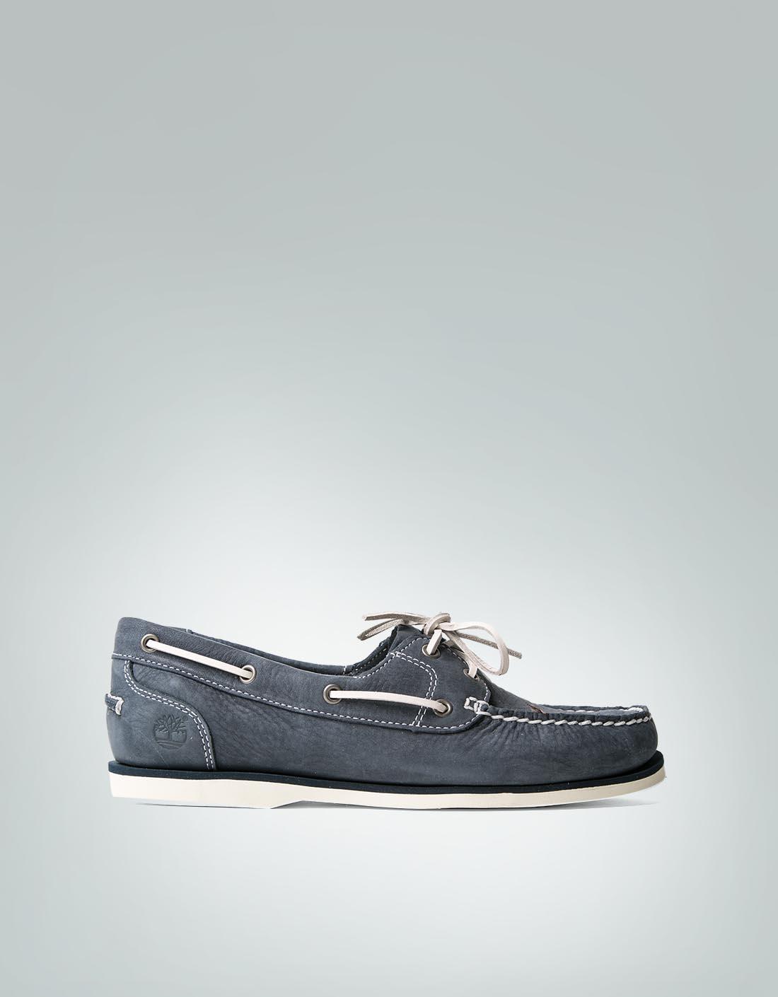size 40 c0af2 1987f Timberland Damen Schuhe blau Mokassin aus Nubukleder ...