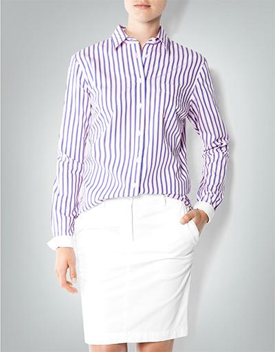 Artikel klicken und genauer betrachten! - Die Hemdbluse ist ein Klassiker im frischen Streifen- Dessin, mit der Sie Stil zeigen. Mit schlanker taillierter Passform im angezogeneren modischen Chic. | im Online Shop kaufen