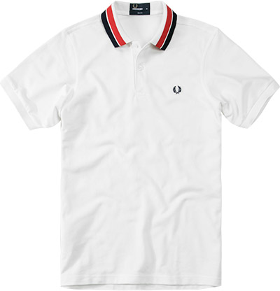 Fred Perry Polo-Shirt white M3205/129