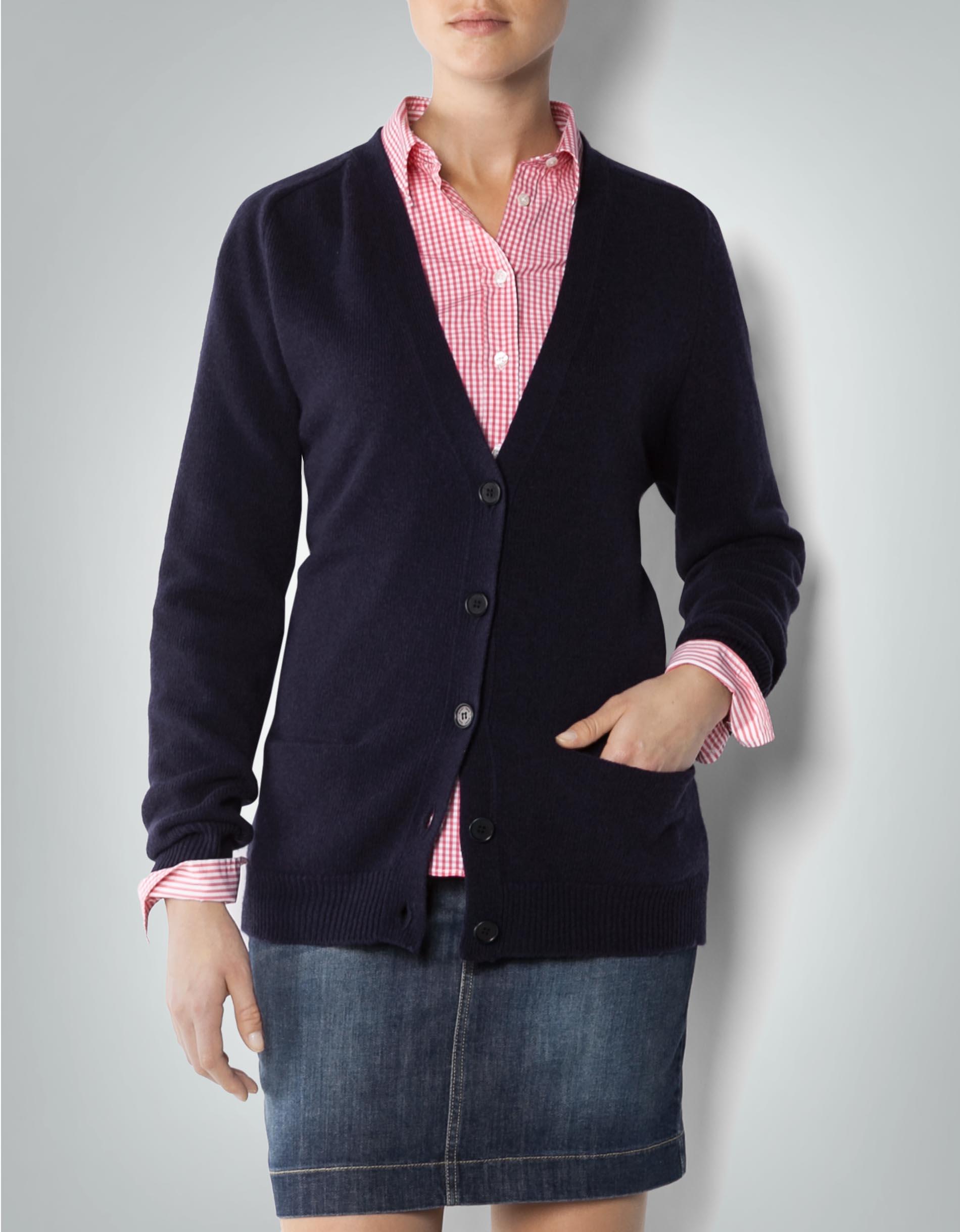 eef7ad42be0b Gant Damen Cardigan marineblau aus Wolle empfohlen von Deinen Schwestern