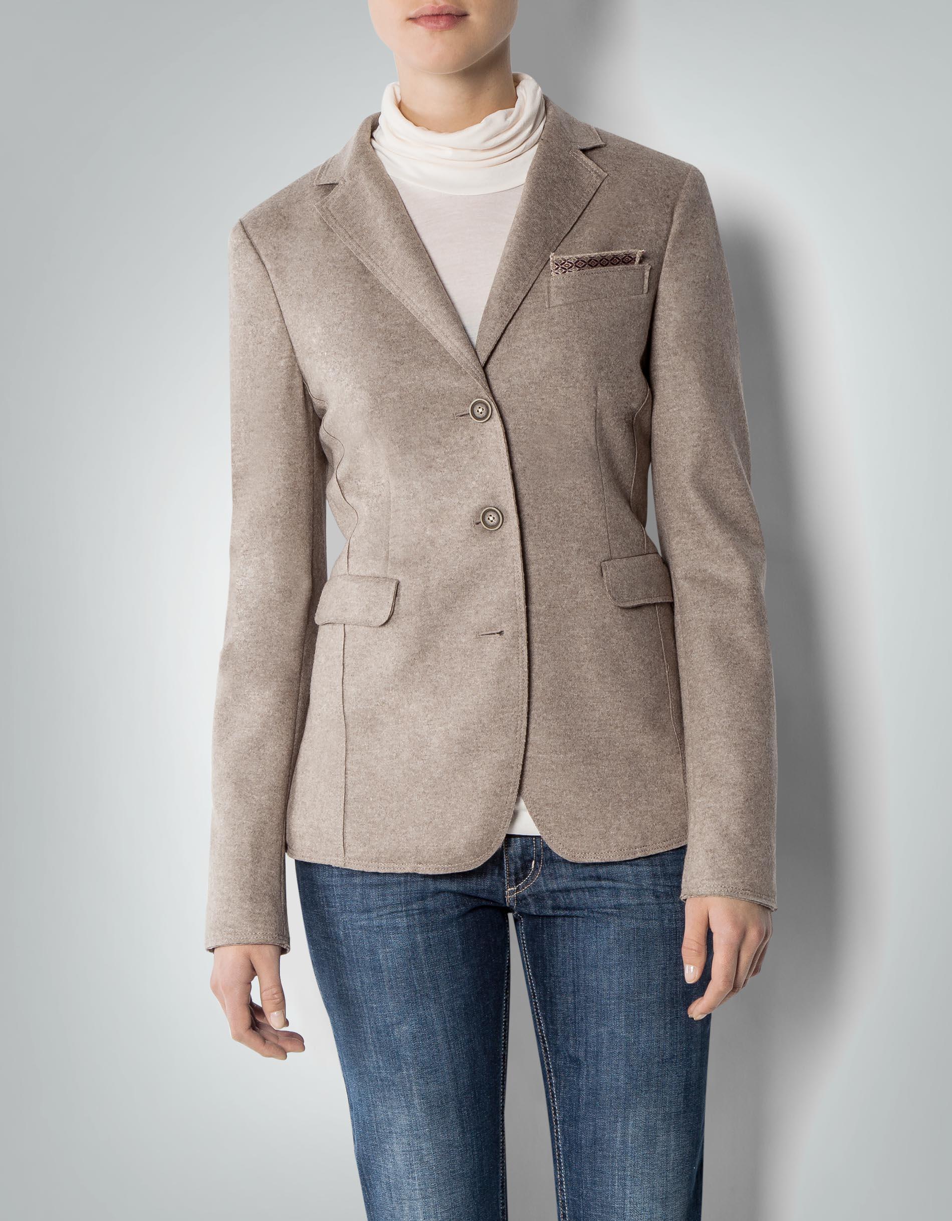 cinque damen blazer cibig beige aus schurwolle empfohlen von deinen schwestern. Black Bedroom Furniture Sets. Home Design Ideas