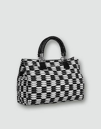 RENÉ LEZARD Damen Tasche schwarz-weiß 835088