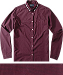Fred Perry Hemd B.D. bordeaux M3260/122