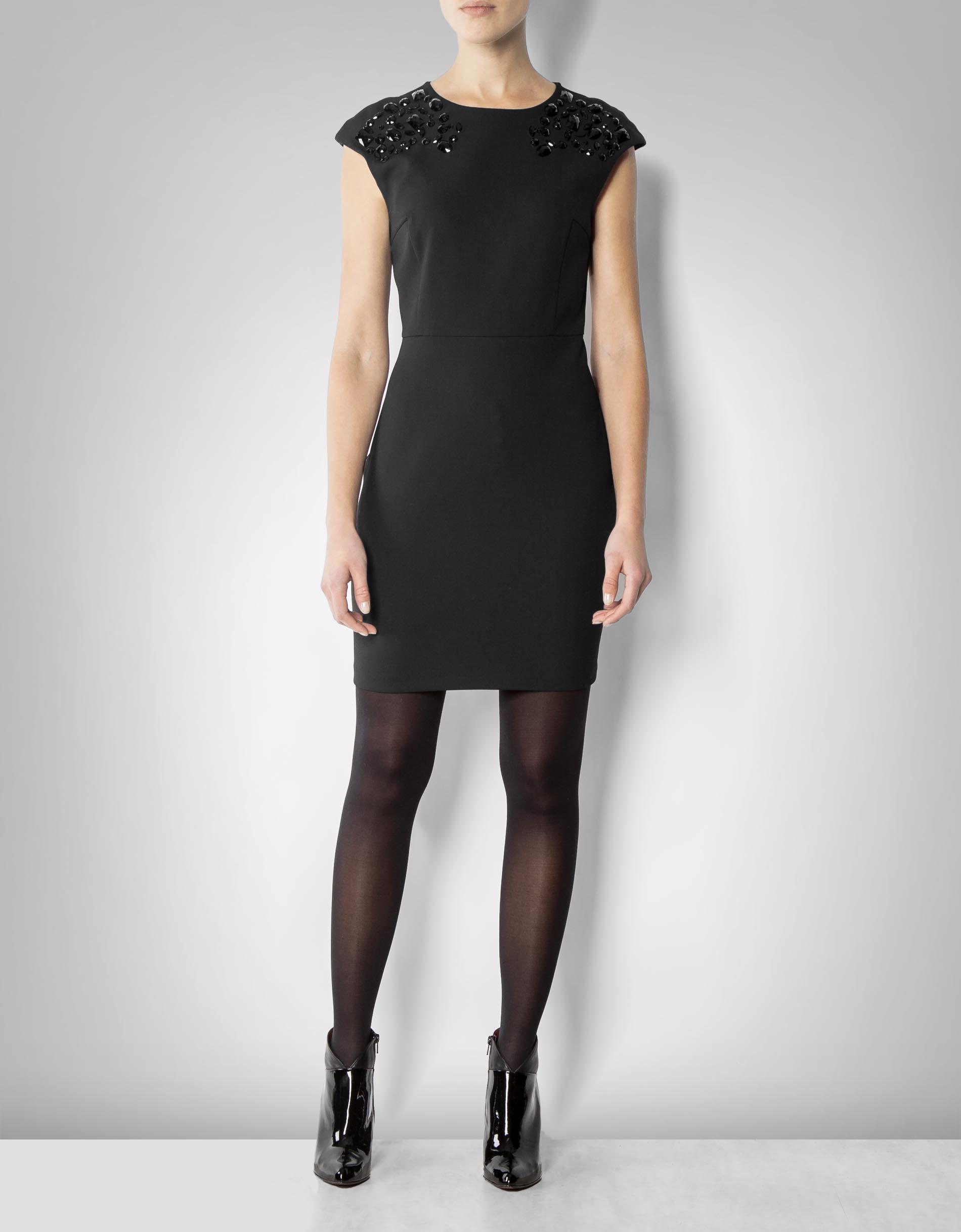 kookai damen kleid mit deko steinen empfohlen von deinen. Black Bedroom Furniture Sets. Home Design Ideas