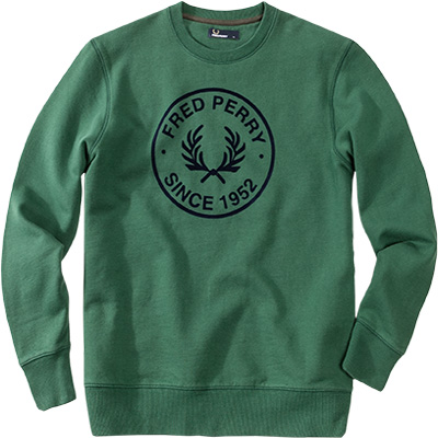 Fred Perry Sweatshirt grün M3385/145